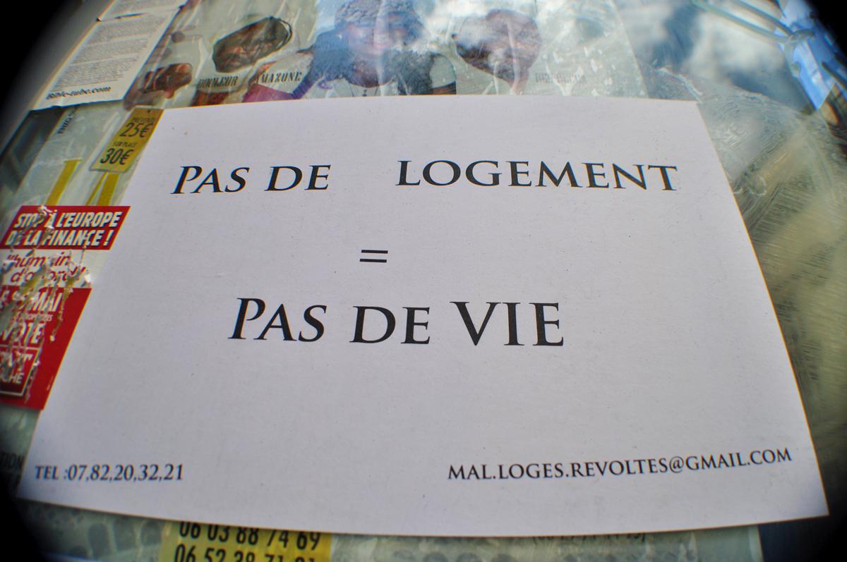 PAS DE LOGEMENT = PAS DE VIE