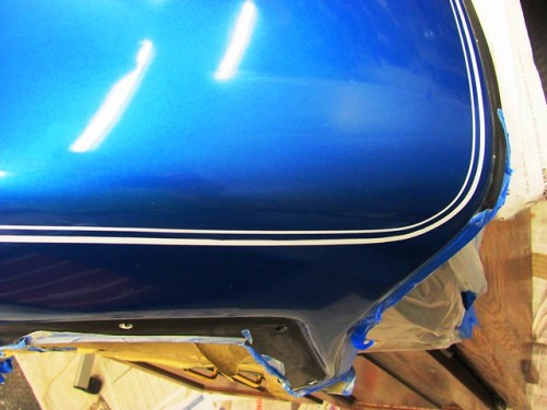 Clear Coat Repair on Fairing Nose After Sand, Buff & Clear
