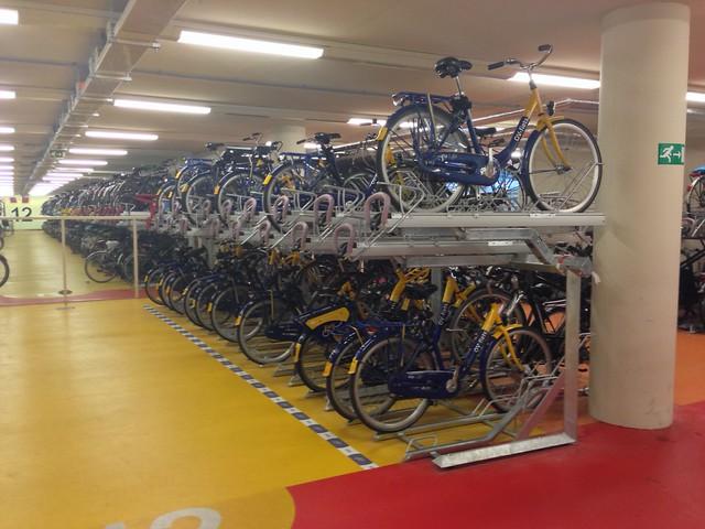 OV-fiets bike-share bikes at Rotterdam Centraal