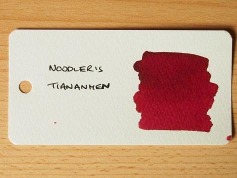 Noodler's Tiananmen - Ink Review - Word Card