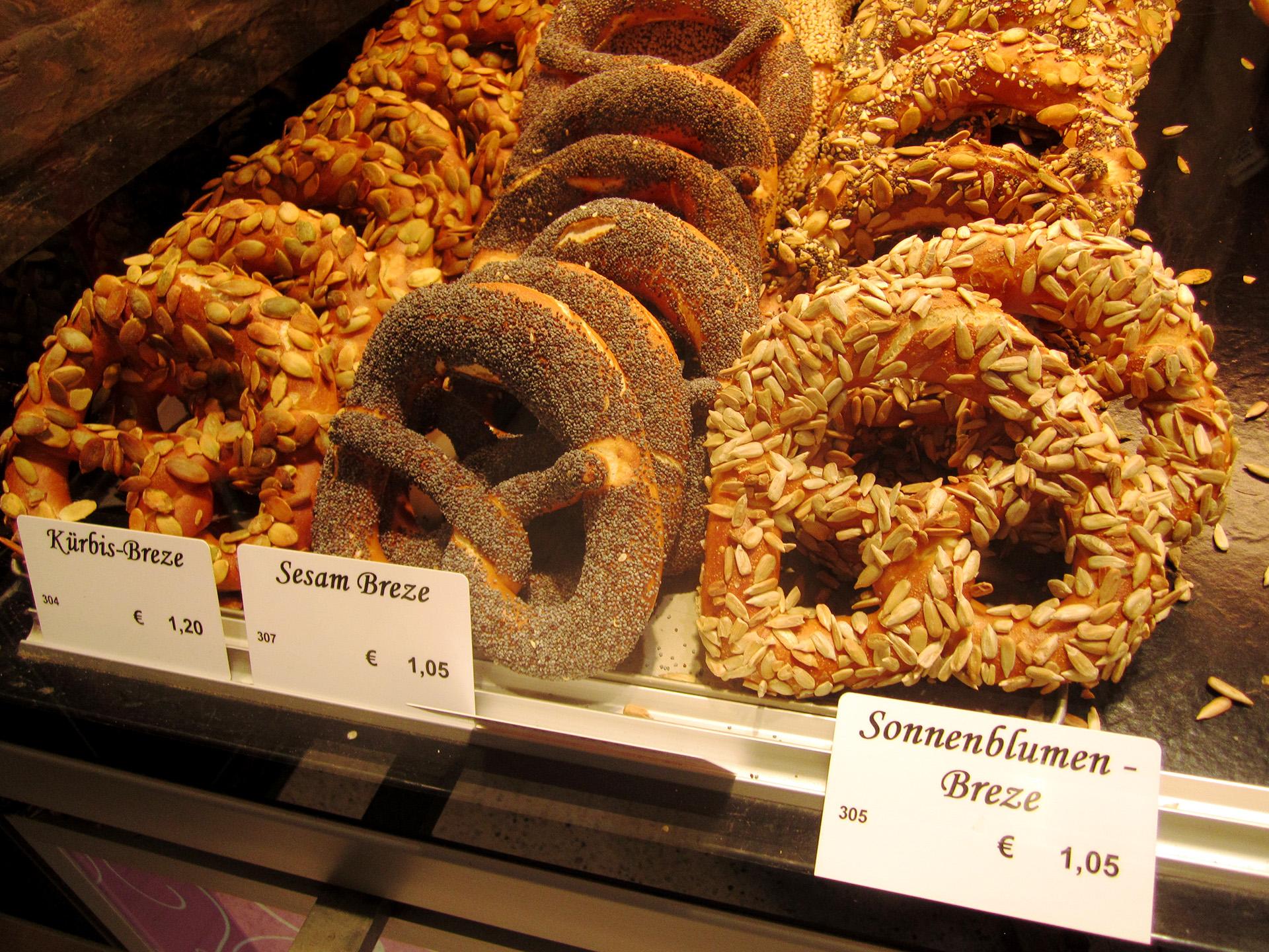 Pretzels, Viktualienmarkt, Munich.