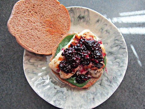 Brie & Blackberry Chicken Sammich