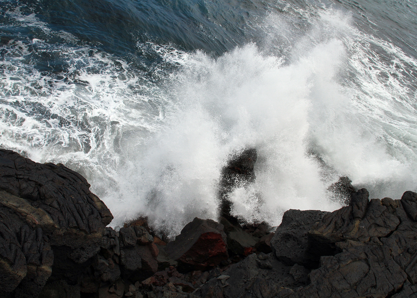 Waves and Lava Cliffs