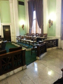 Jury box, Hudson County Superior Court