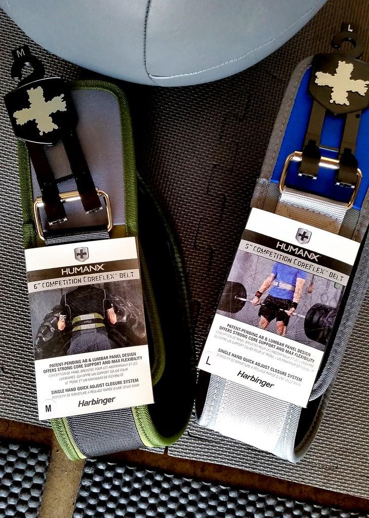 Harbinger HumanX CoreFlex Belts info