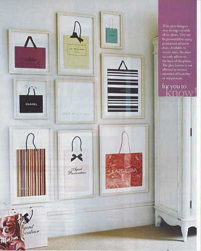 shopping bags as art on Ladolcevitablog