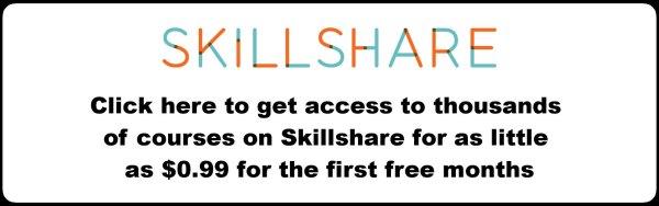 skillshare social media courses 0.99 sign up