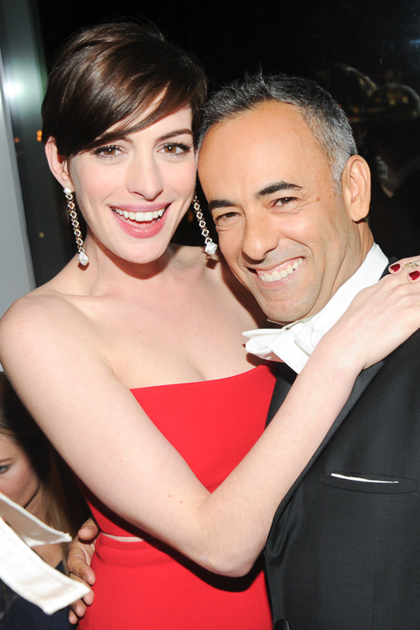 Anne Hathaway and Francisco Costa