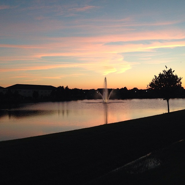 Could tonight have been more beautiful? #nope #orlando #nofilter #seenonmyrun