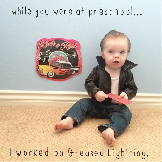 while you were at preschool I worked on greased lightning