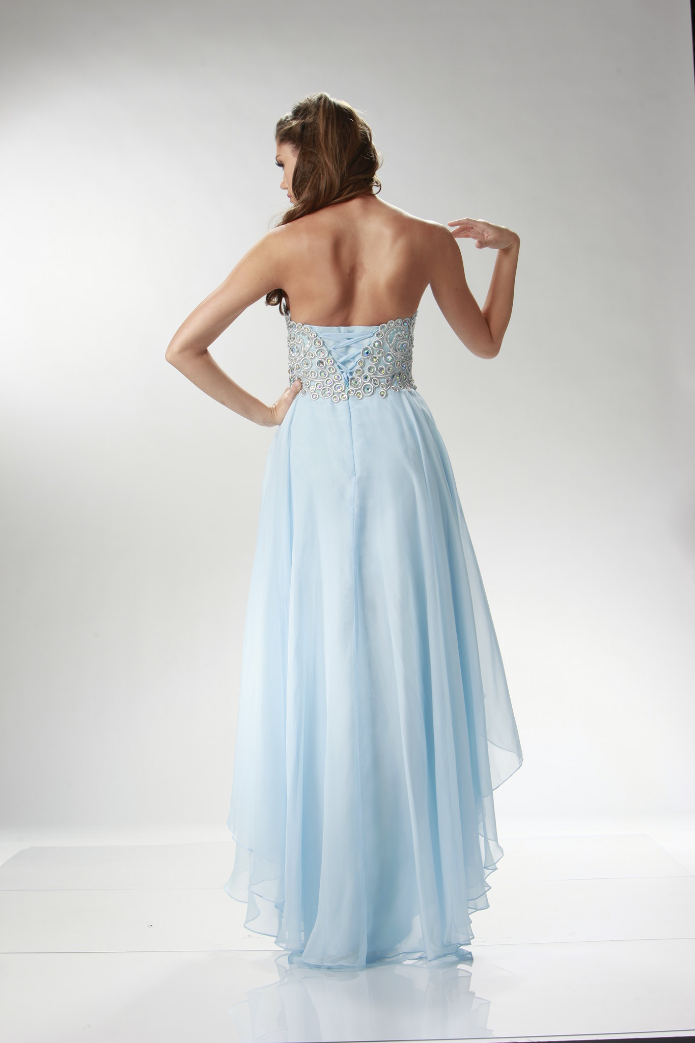 High Low Long Short Chiffon Prom Dress Sexy Plus Size Formal Corset Back Formal  eBay