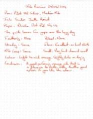 Ink Review Sailor Apricot - Rhodia Dot Pad