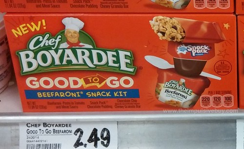 Chef Boyardee Good To Go Beefaroni Snack Kit