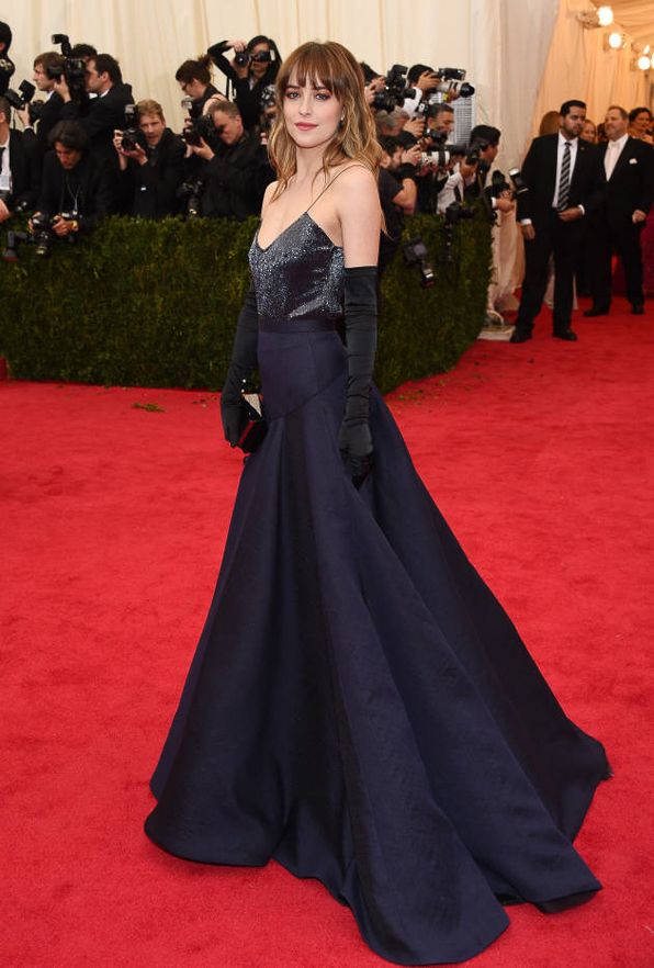 2014 Met Ball Best Dressed Dakota Johnson in Jason Wu