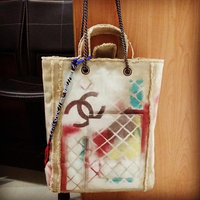 Chanel graffiti bag