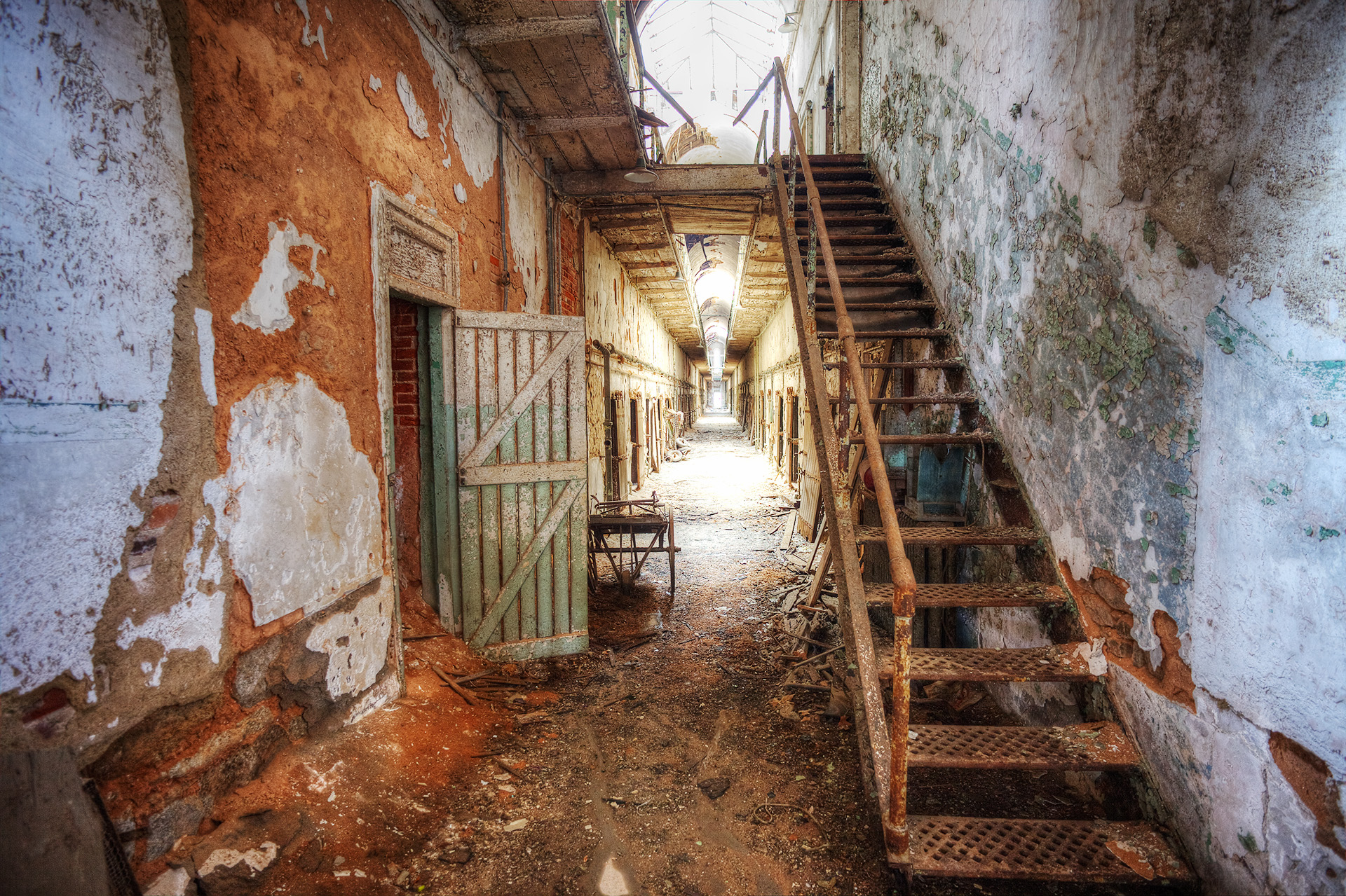 Cell block, Eastern State Penitentiary.