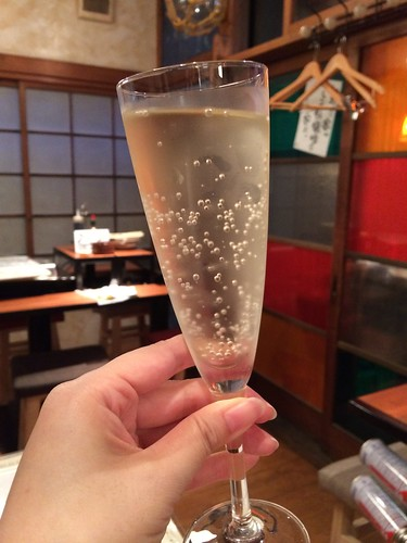 生スパークリングワイン@かき殻荘