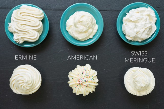 Ermine Icing, American Buttercream, Swiss Meringue Buttercream