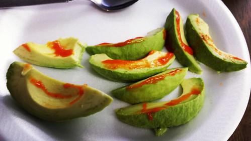 Avocado with Sriracha ROCKS THE HOUSE!  . . . #ketodiet #keto #ketogenic #ketogenicdiet #lchf #lchflife #weightloss