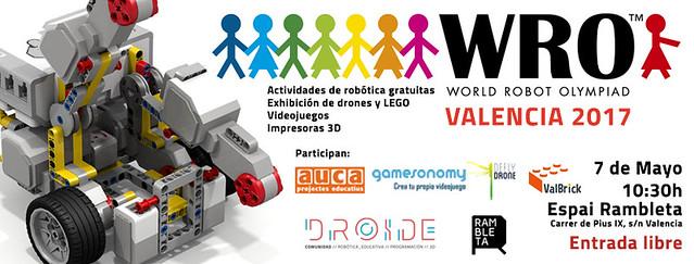 Cartel de la WRO Valencia 2017