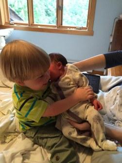 "Hugging ""Baby Sister"""