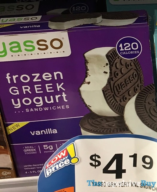 Yasso Vanilla Frozen Greek Yogurt Sandwiches