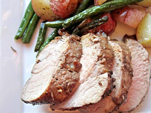 Balsamic-Herb Pork Tenderloin and Roasted Veggies