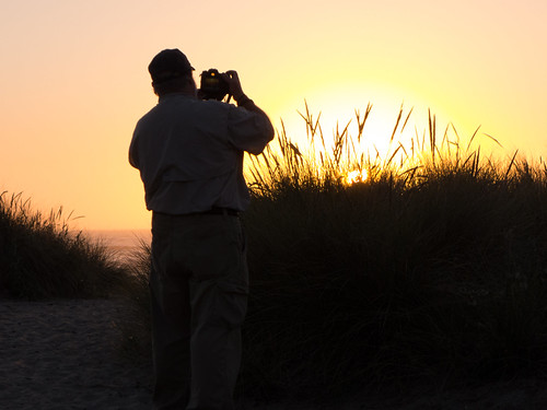Tom Photographing Sunset at Bastendorf Beach