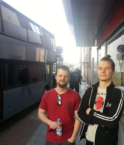Lars and Baard outside club in Oberhausen + crazy driver Frank