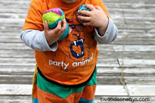 Toddler Juggling Balls - Fabric Scrap Buster- Swoodson Says