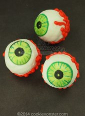 3D eyeball Shortbread Cookies