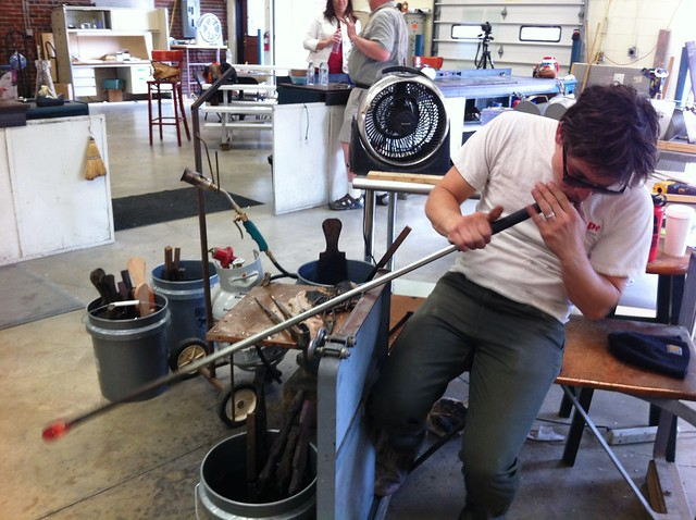 The Pro Blowing Glass at Sunspots Studios, Staunton, Va., April 2014