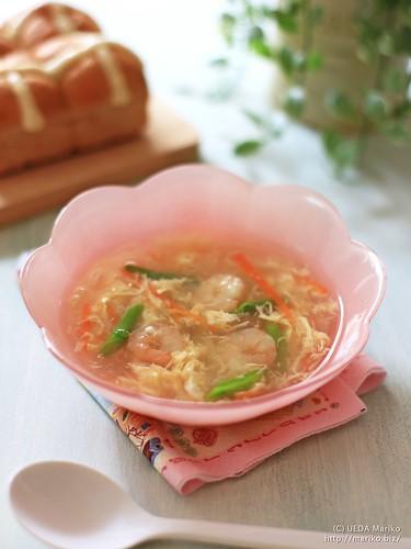 えびと春野菜のスープ 20170324-IMG_8677-1