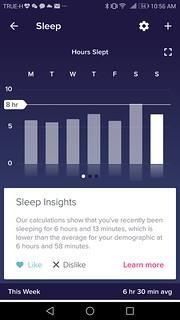 หน้า dashboard รายละเอียดการนอน