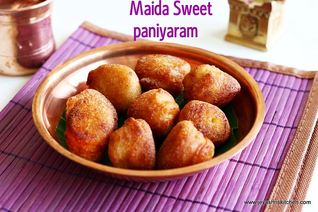 Maida sweet paniyaram  navaratri recipes  Jeyashris Kitchen