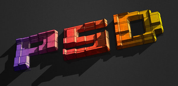 How to Create 3D Text Blocks in Photoshop