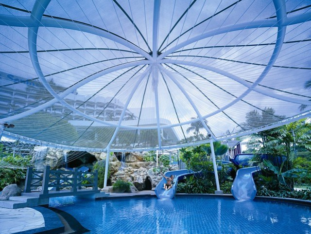 Children's pool and slides