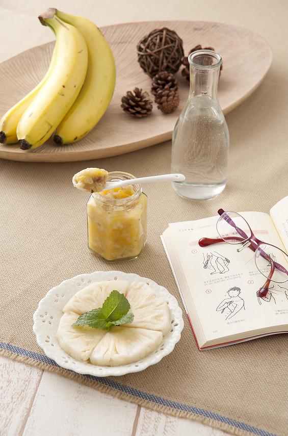 香蕉鳳梨薄荷醬3