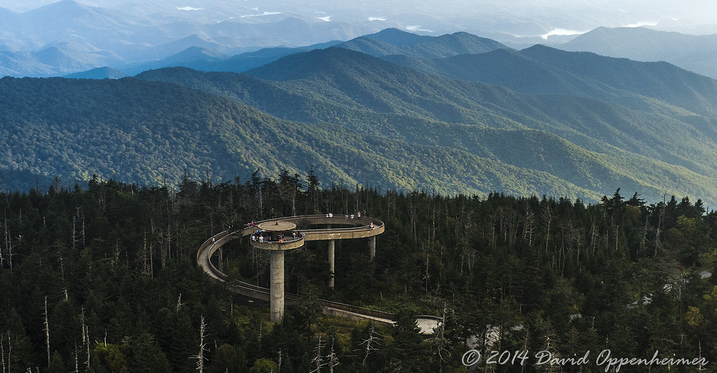 Fall Farm Wallpaper Clingmans Dome Observation Tower In The Great Smoky Mounta