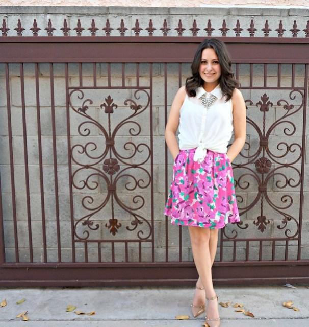 Spring floral skirt 4