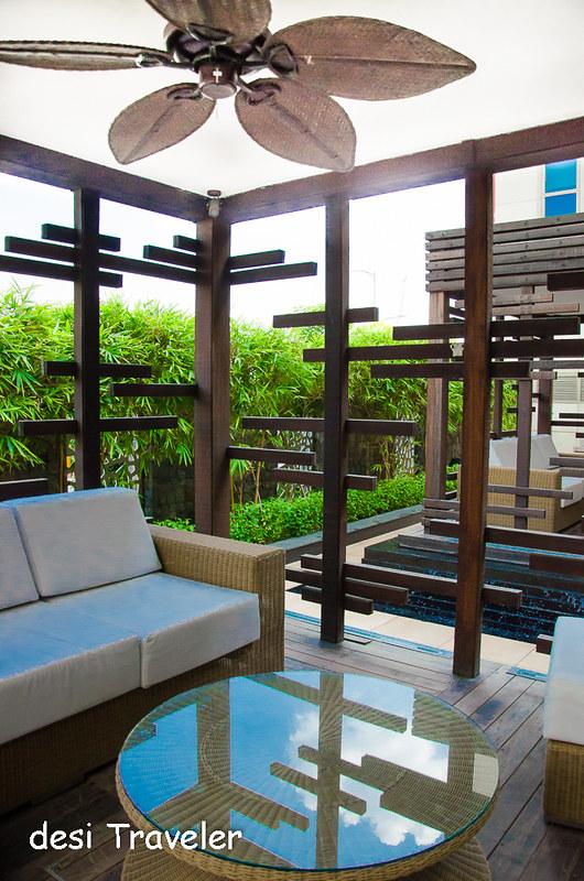 Gazebo in garden Ibis Airport Hotel Delhi Aerocity