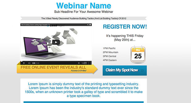 Increase Webinar Registrations