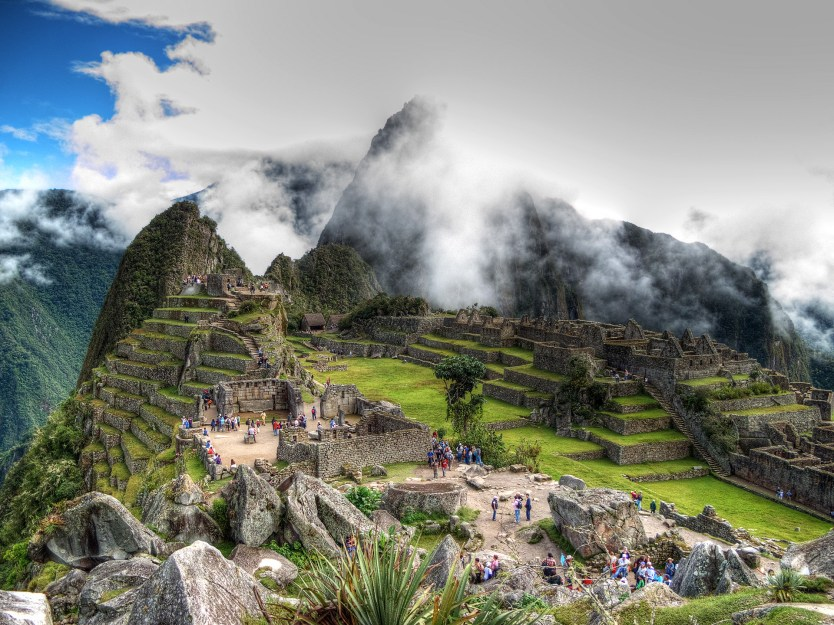Looking over Machu Picchu from the House of the Guardians.