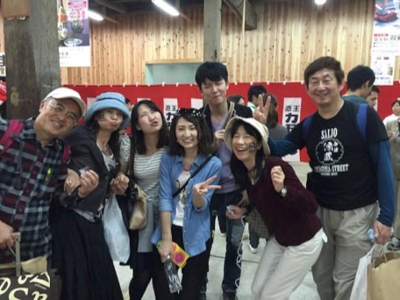 賀茂鶴で記念撮影なう!