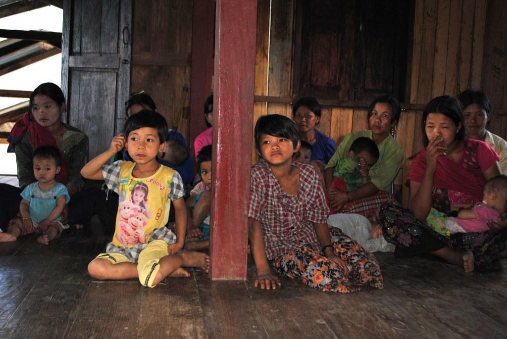 Children Mae Yay Village, Myanmar