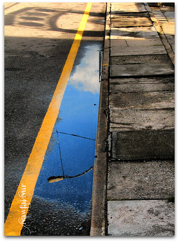 Yellow Line, by Nawfal Nur, All Rights Reserved