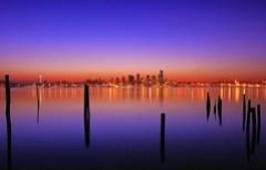 Sunrise at Alki Beach