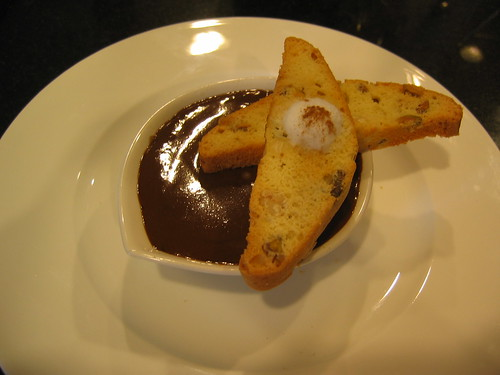 Cappuccino Creme Brulee with Hazelnut and Pistachio Biscotti