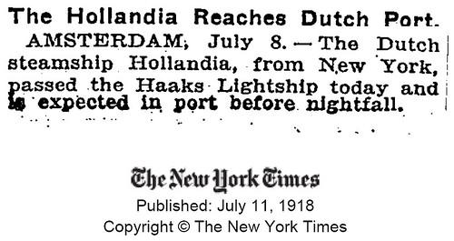hollandia reaches port