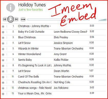 imeem.com music embed